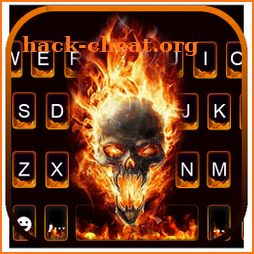 Flaming Death Skull Keyboard Theme icon