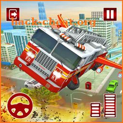 Flying Fire Fighter Rescue Truck:Rescue Game icon