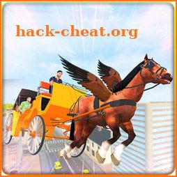 Flying Horse Buggy Taxi Driving Transport Game icon