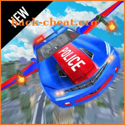 Flying Police Robot Car Transform: Flying Car Game icon