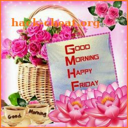 Friday good morning wishes icon