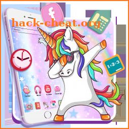 Funny Unicorn Themes HD Wallpapers 3D icons icon
