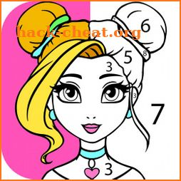 Girls Coloring Book - Color by Number for Girls icon