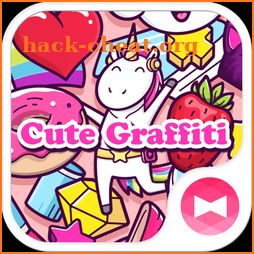 Girly Wallpaper Cute Graffiti Theme icon