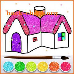Glitter House Coloring and Drawing for kids icon