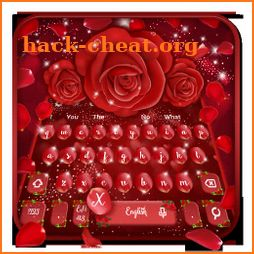 Glittering Red Rose Keyboard Theme icon