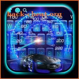 Glowing Sports Car Dial Keyboard icon