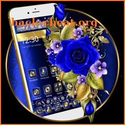 Gold and Blue Flower Theme icon