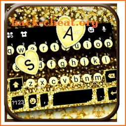 Gold Sparkle Pearls Keyboard Theme icon