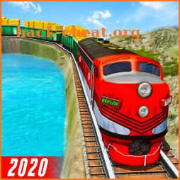 Gold Train Transporter 2020: Train Simulator Games icon
