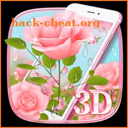 Gorgeous 3D Pink Rose Theme icon