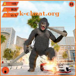 Gorilla City Rampage :Animal Attack Game Free icon