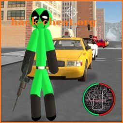 Green Pool Stickman Rope Hero Gangstar Crime icon