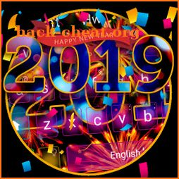 Happy New Year 2019 Colorful Keyboard Theme icon