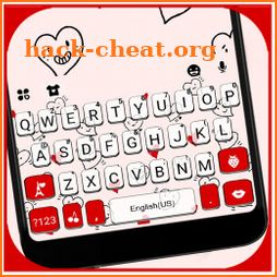 Hearts Doodles Keyboard Theme icon