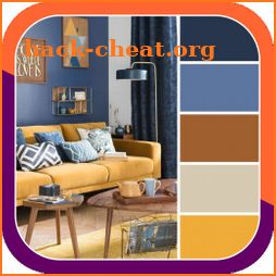 Home paint color combination icon
