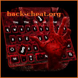 Horror Blood Hand Keyboard icon