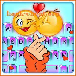 Hot Love Heart Keyboard Theme icon