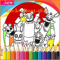 How to color Five nights coloring book icon