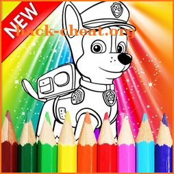 How to color Paw Patrol  Coloring Book icon