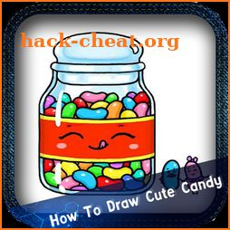 how to draw cute candy icon