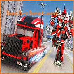 Indian Police Robot Transform Truck icon