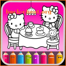 Kitty Coloring Book - Cute Drawing Game icon