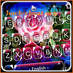 Live 3D Shining Colorful Rose Keyboard Theme icon