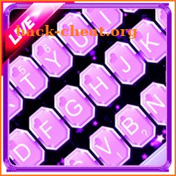Live Bright Purple Stars Keyboard Theme icon