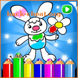 Live coloring for kids icon