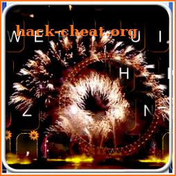 Live New Year Fireworks Keyboard Theme icon