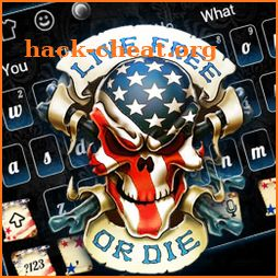 Live or die USA Skull Keyboard Theme icon