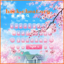 Live Pink Sakura Blossom Keyboard Theme icon