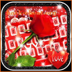 Lovely Red Rose Heart Keyboard theme icon