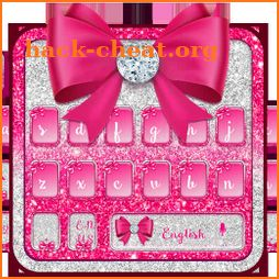 Luxury Pink Bow Diamond Keyboard icon