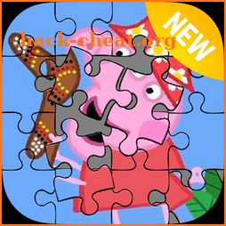 Mama peppa and friends jigsaw game icon