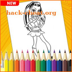 Monster High Coloring book icon