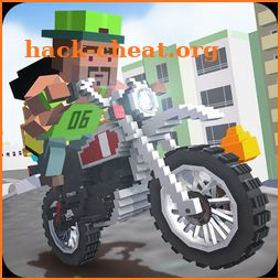 Mr. Blocky Moto Bike Driver SIM icon