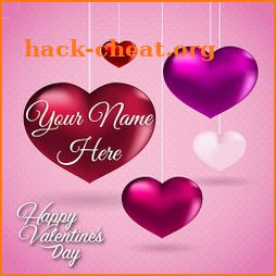 Name on Valentine Card icon