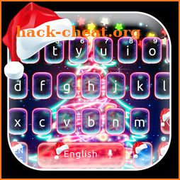 Neon Christmas Keyboard Theme icon
