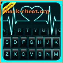 Neon Heart Love Keyboard Theme icon