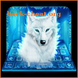 Neon Night Forest Wolf Keyboard Theme icon