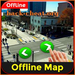 Offline Navigation & Street View Direction Maps icon