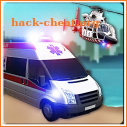 Offroad Police Flying Helicopter Ambulance 3D Game icon
