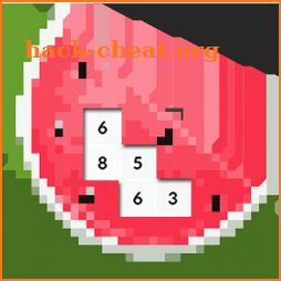Paint Fruits Color By Number Game: Fruit Pixel Art icon