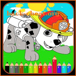 Paw Book Coloring Games - Kids Patrol icon