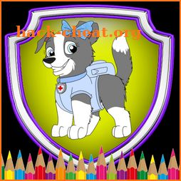 Paw Color Patrol coloring book for kids icon