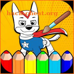 Paw Puppy On Patrol Coloring Pages icon