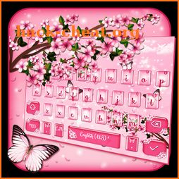 Pink Cherry Blossom Keyboard icon