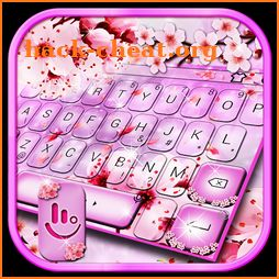Pink Cherry Flower Keyboard Theme icon